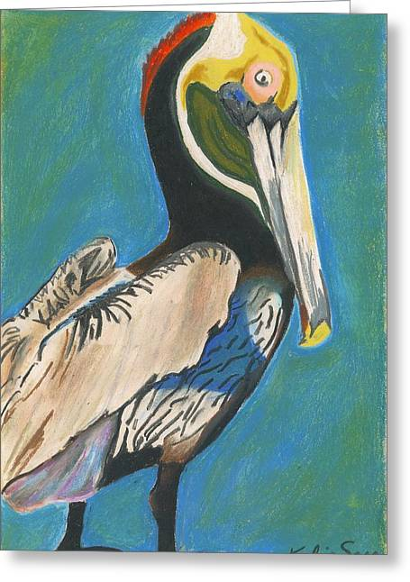 Pelican Blue Greeting Card