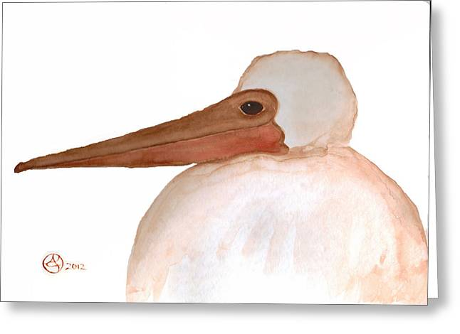 Pelican Chick Greeting Card by Alexandra  Sanders