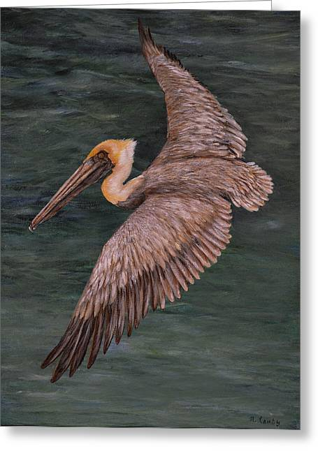 Pelican Fishing Greeting Card
