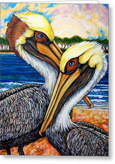 Pelican Pair Greeting Card