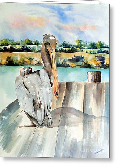 Pelican With An Attitude Greeting Card