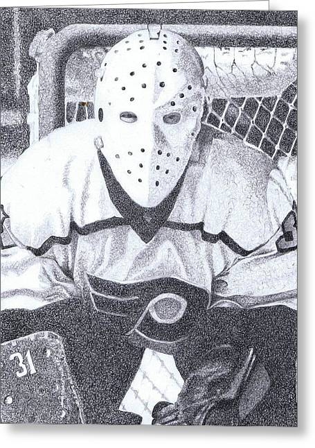 Pelle Lindberg Greeting Card by Paul Smutylo