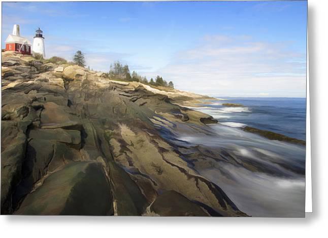 Pemaquid Lighthouse 7 Greeting Card by Patsy Zedar