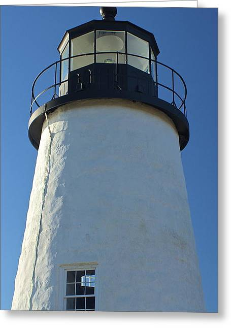 Greeting Card featuring the photograph Pemaquid Lighthouse by Amazing Jules