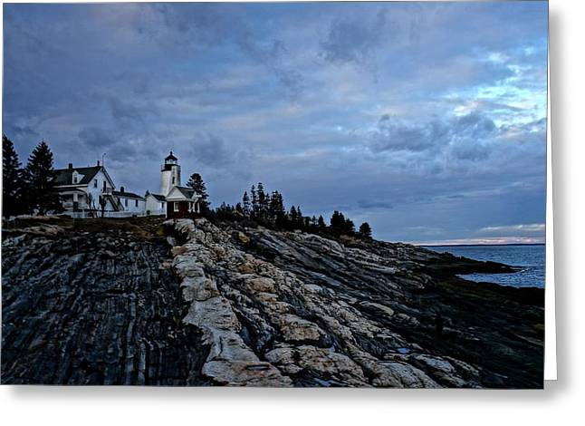 Pemaquid Lighthouse Greeting Card by Melissa C