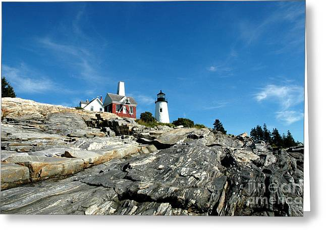Pemaquid Point Greeting Card by Alan Russo
