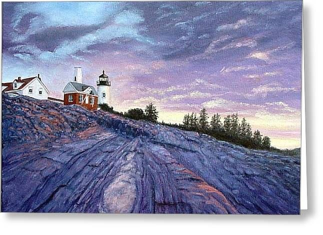 Pemaquid Point Dawn Greeting Card