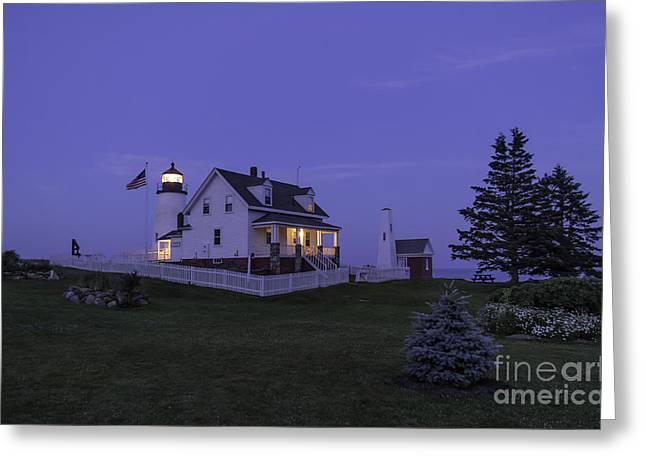 Pemaquid Point Light - Blue Hour Greeting Card