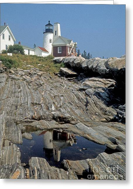 Pemaquid Point Light Greeting Card by ELDavis Photography