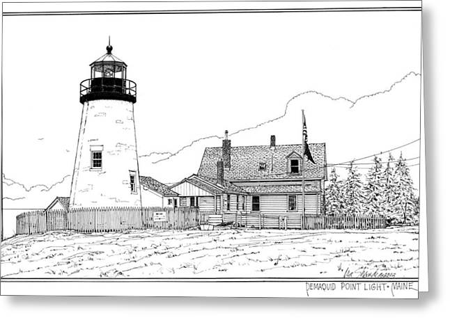 Pemaquid Point Lighthouse Greeting Card by Ira Shander