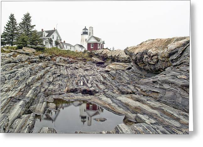 Greeting Card featuring the photograph Pemaquid Point Lighthouse by Richard Bean