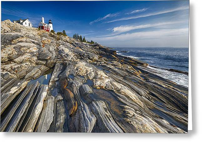 Pemaquid Point Scenic Maine Greeting Card by George Oze
