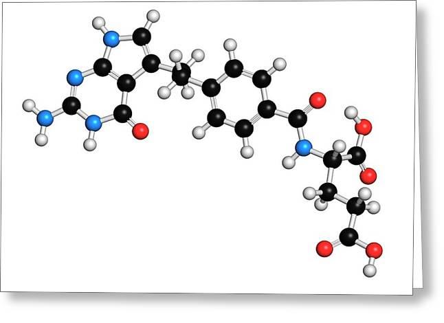 Pemetrexed Lung Cancer Drug Molecule Greeting Card