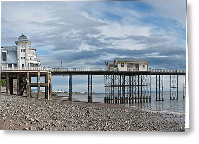 Penarth Pier Panorama 1 Greeting Card by Steve Purnell