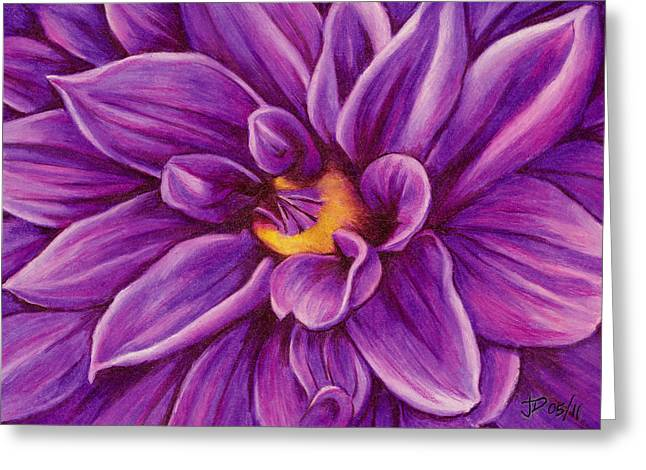 Pencil Dahlia Greeting Card by Janice Dunbar
