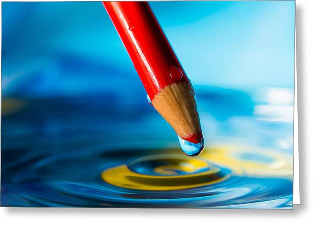 Pencil Water Drop Greeting Card