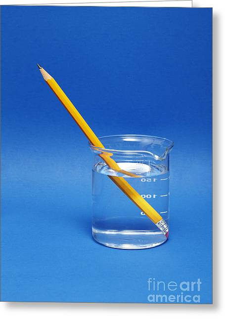 Pencil In A Beaker With Water Greeting Card by GIPhotoStock