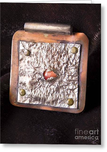 Pendant Greeting Card by Patricia  Tierney