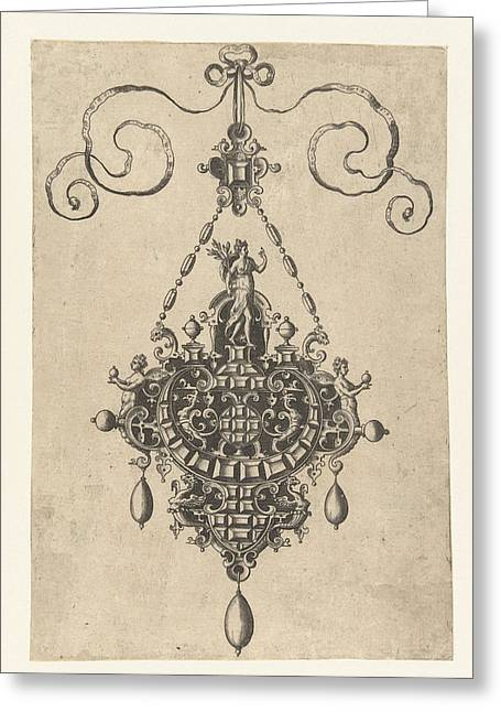Pendant Which A Goddess With Laurel, Anonymous Greeting Card
