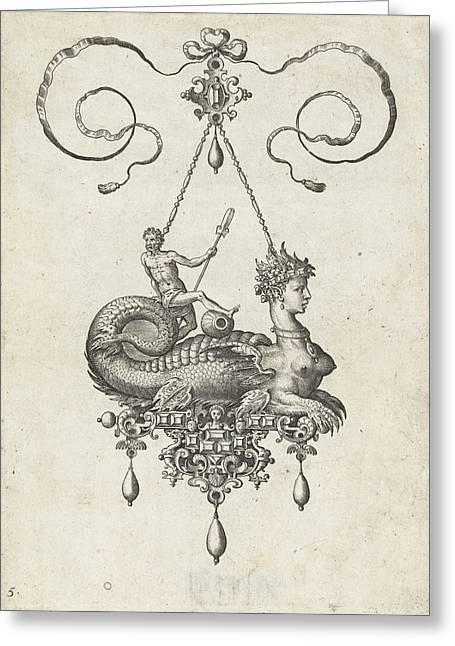 Pendant With Sphinx, Adriaen Collaert, Hans Collaert Greeting Card
