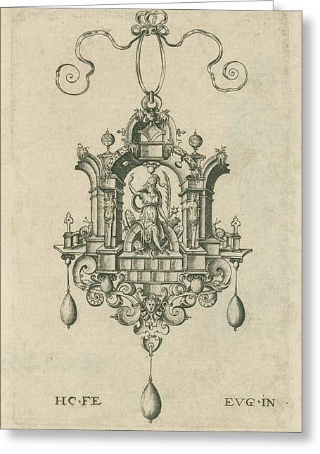 Pendant With Victoria , Hieronymus Wierix Greeting Card