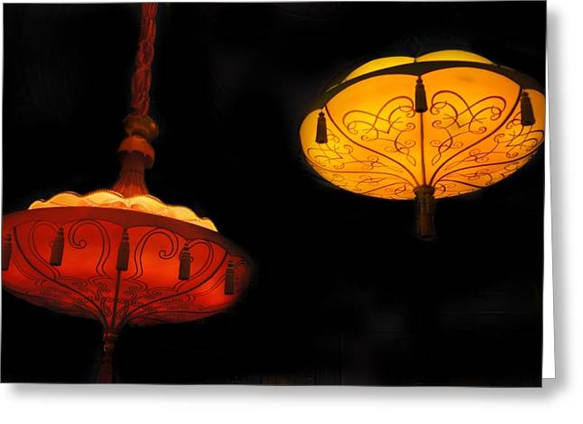 Pendent Lights Greeting Card