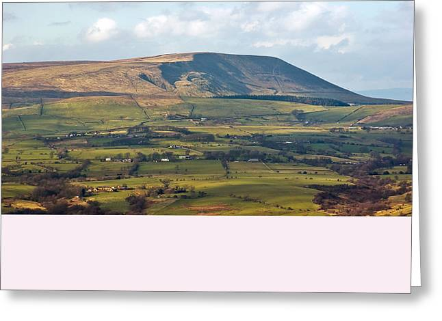 Greeting Card featuring the photograph Pendle Hill Lancashire England by Jane McIlroy