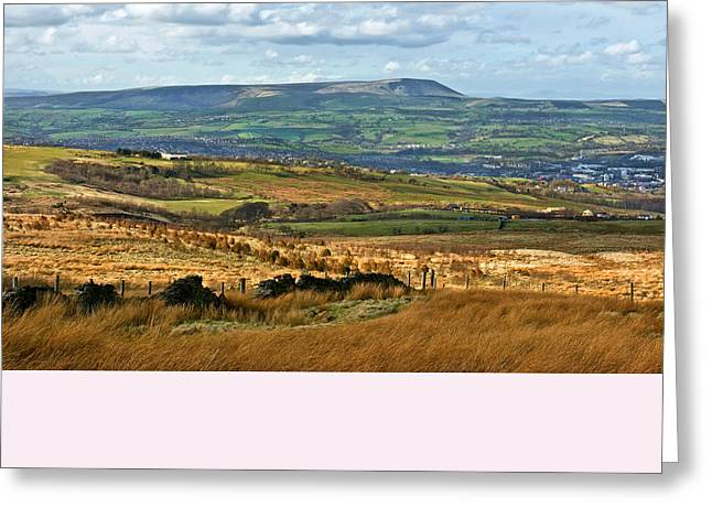Greeting Card featuring the photograph Pendle Hill Lancashire by Jane McIlroy