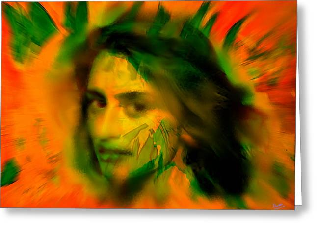 Penelope Cruz Greeting Card by Marcello Cicchini