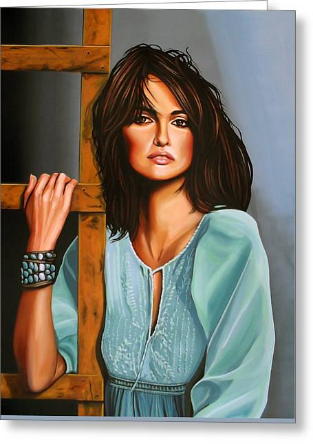 Penelope Cruz Greeting Card by Paul Meijering