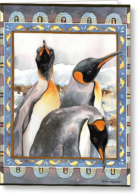 Penguin Family Portrait Greeting Card