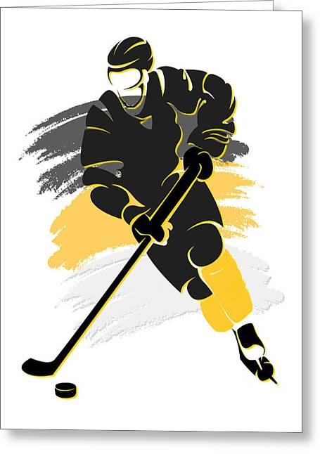 Penguins Shadow Player2 Greeting Card by Joe Hamilton