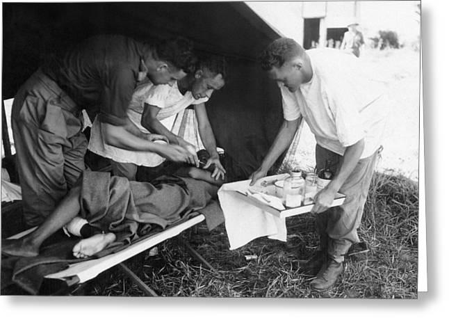 Penicillin Injection, World War II Greeting Card