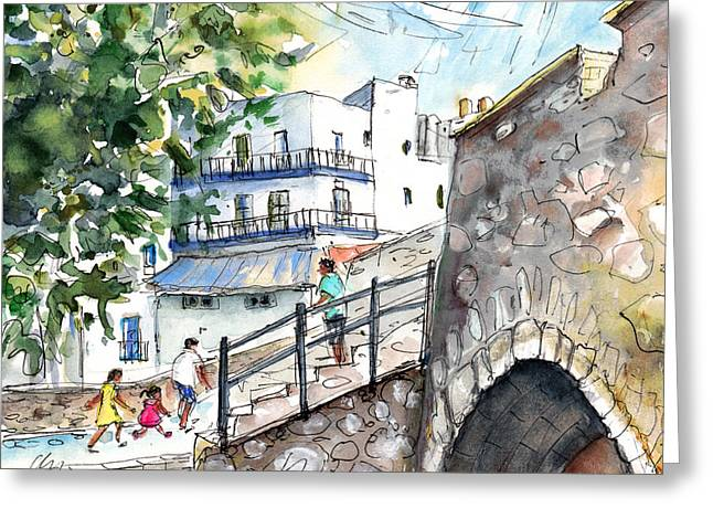 Peniscola Old Town 03 Greeting Card by Miki De Goodaboom
