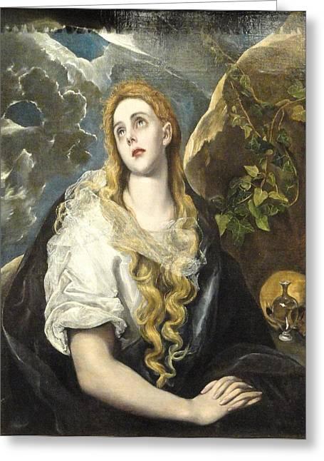 Penitent Magdalene Greeting Card