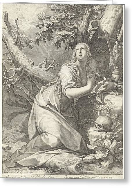 Penitent St. Mary Magdalene Greeting Card by Quint Lox