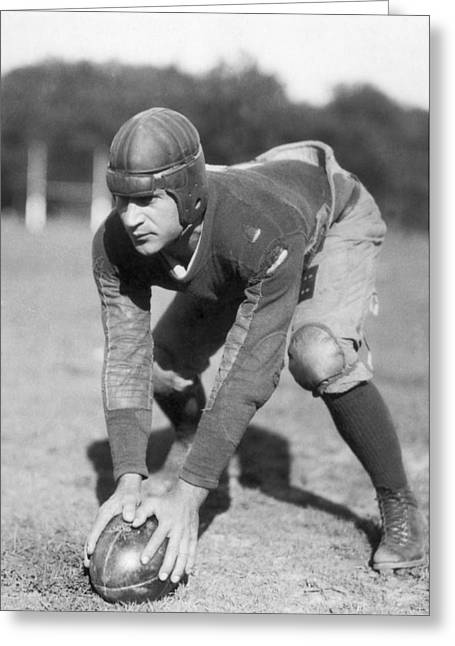 Penn Sate Football Captain Greeting Card by Underwood Archives