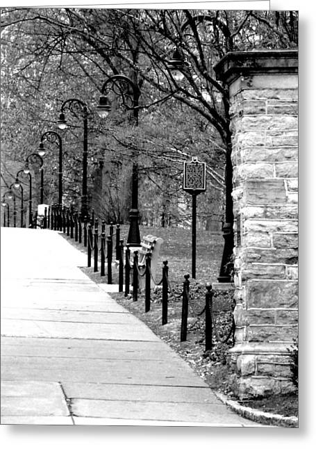 Penn State Campus  Greeting Card by Mary Beth Landis