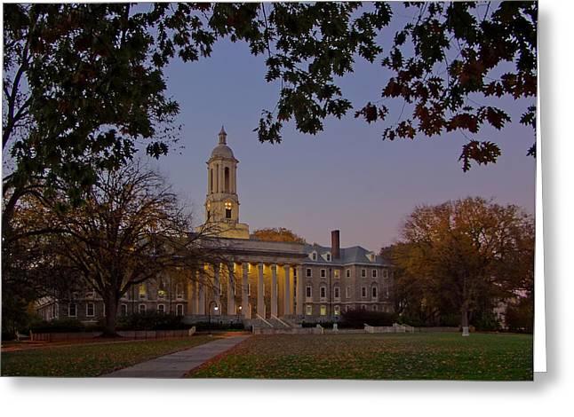 Penn State Old Main At Dusk Greeting Card