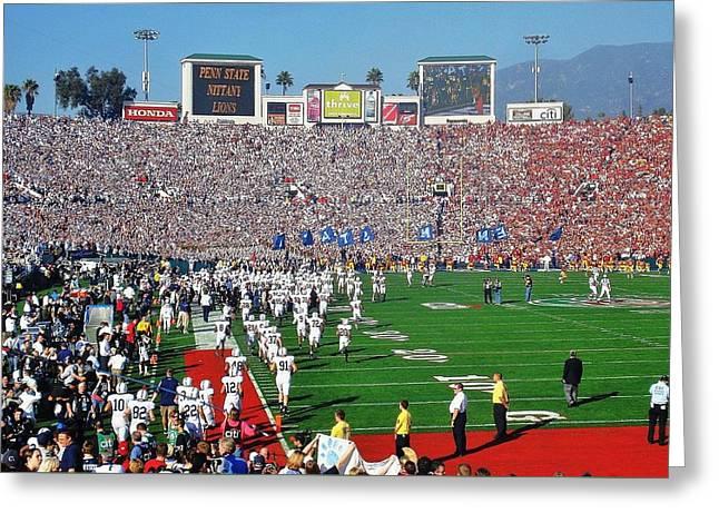 Penn State Rose Bowl Greeting Card by Benjamin Yeager