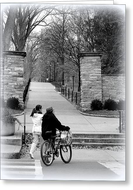 Penn State University Transportation Greeting Card by Mary Beth Landis
