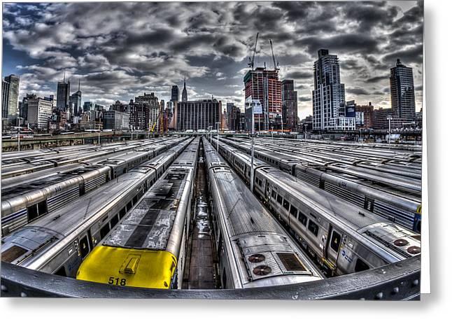 Penn Station Train Yard Greeting Card