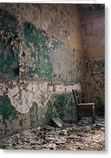 Pennhurst Green Room With Chair Greeting Card