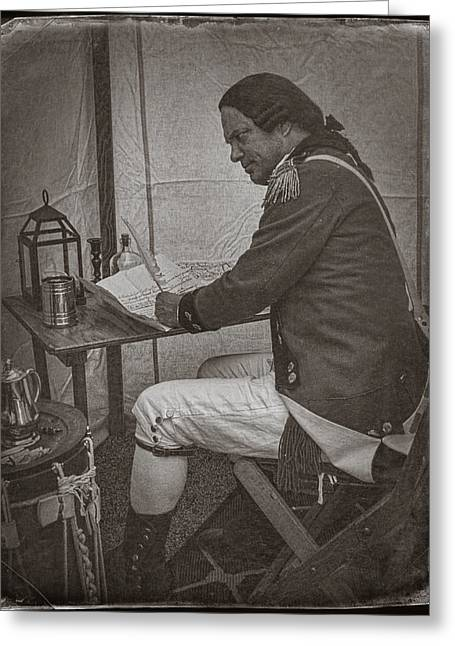 Penning A Letter To King George The Third   Greeting Card