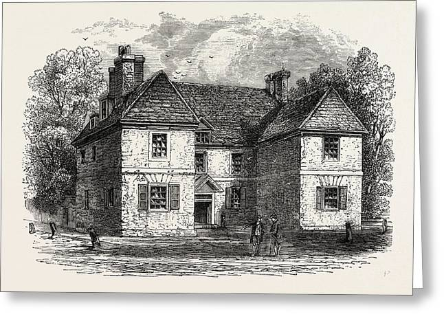Penns House, Philadelphia, United States Of America Greeting Card by American School