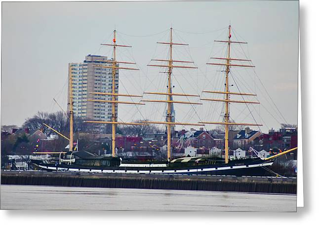 Penns Landing - The Mushulu Greeting Card by Bill Cannon