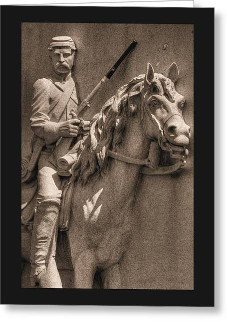 Pennsylvania At Gettysburg - 17th Pa Cavalry Regiment - First Day Of Battle Greeting Card