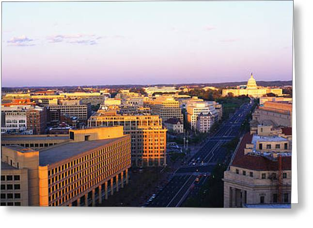 Pennsylvania Ave Washington Dc Greeting Card by Panoramic Images