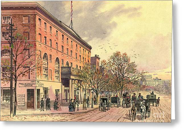 Pennsylvania Avenue And 6th Street 1860 Greeting Card by Padre Art