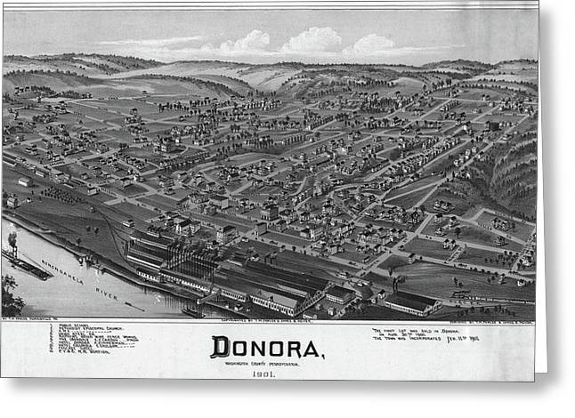 Pennsylvania Donora, 1901 Greeting Card by Granger